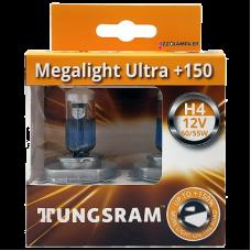 12V 60/55W H4 P43T MEGALIGHT ULTRA +150% 50440NXNU TUNGSRAM/GE